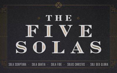 Soli Deo Gloria: Glory to God Alone!